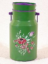 Pot a lait fleurs roses
