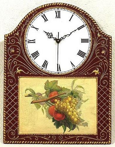 Pendule murale bois d cor fruits boutique - Pendule decorative murale ...